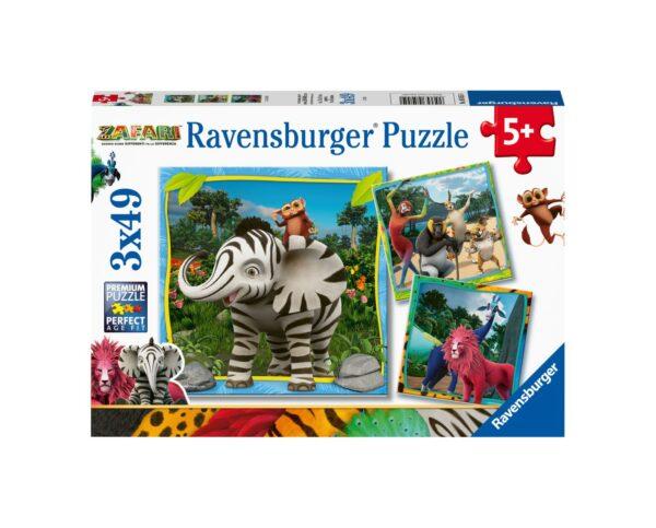 RAVENSBURGER - PUZZLE 3X49 PEZZI - ZAFARI Ravensburger1