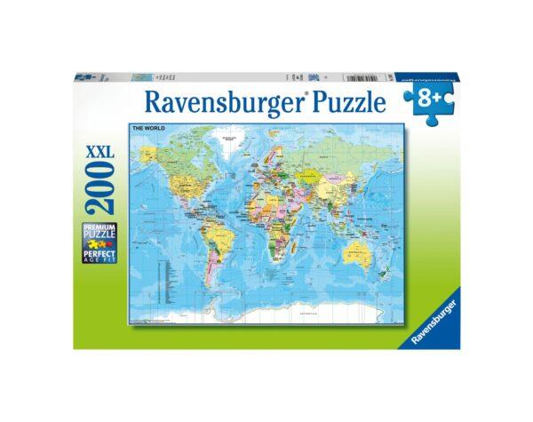 RAVENSBURGER - PUZZLE 200 PEZZI XXL - MAPPA DEL MONDO Ravensburger1