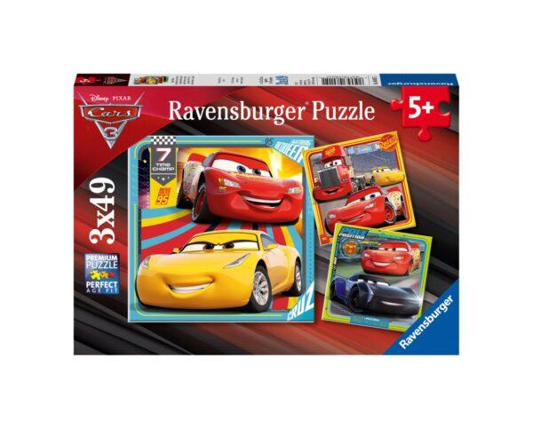RAVENSBURGER - PUZZLE 3X49 PEZZI - CARS 3 Ravensburger1