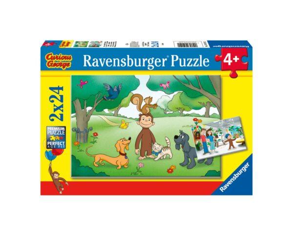 RAVENSBURGER - PUZZLE 2X24 PEZZI - CURIOSO COME GEORGE Ravensburger1
