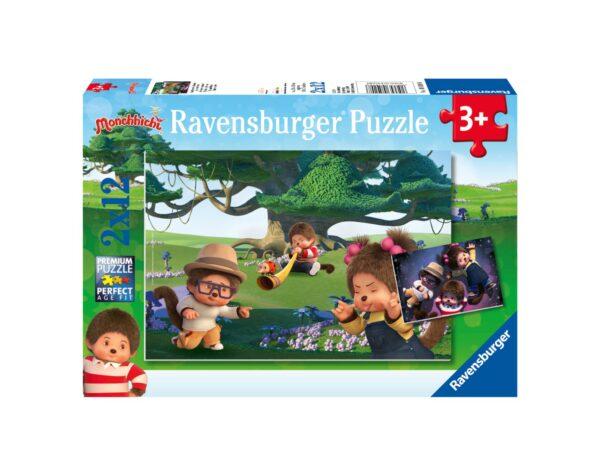 RAVENSBURGER - PUZZLE 2X12 PEZZI - MONCHHICHI Ravensburger1