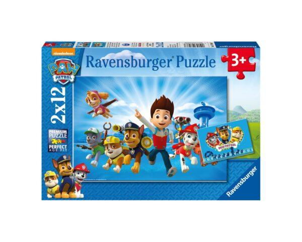 RAVENSBURGER PUZZLE 2X12 PEZZI - PAW PATROL A Ravensburger1