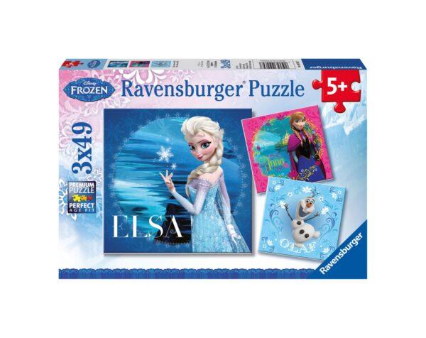 RAVENSBURGER - PUZZLE 3X49 PEZZI - FROZEN C Ravensburger1