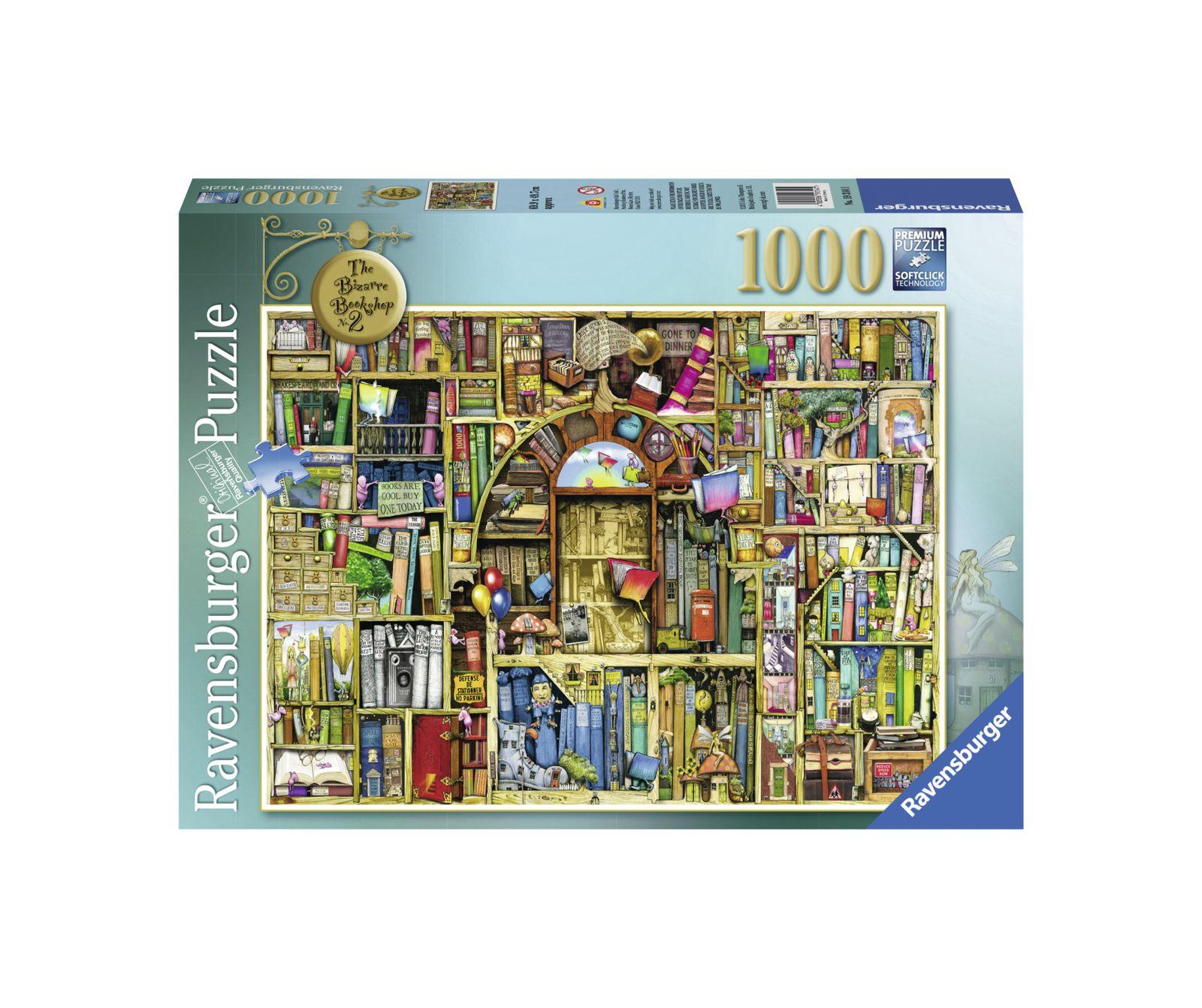 Ravensburger puzzle 1000 pezzi la biblioteca bizzarra 2 - Ravensburger1