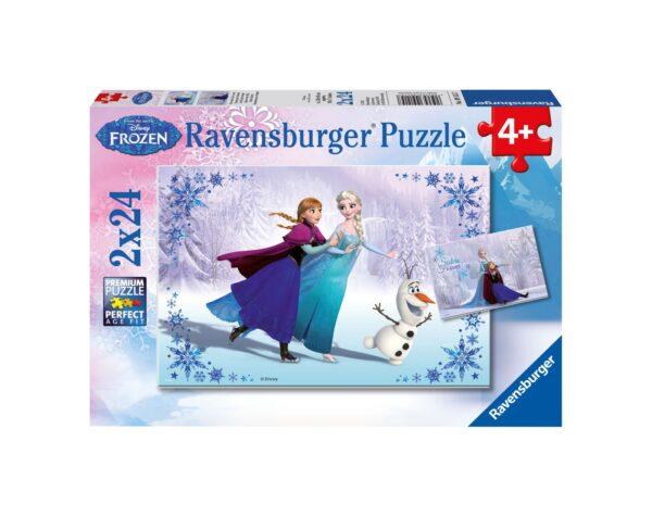 RAVENSBURGER - PUZZLE 2X24 PEZZI - FROZEN Ravensburger1