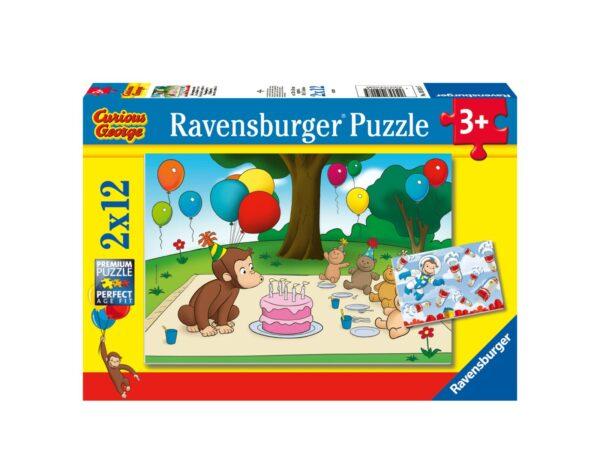 RAVENSBURGER - PUZZLE 2X12 PEZZI - CURIOSO COME GEORGE Ravensburger1