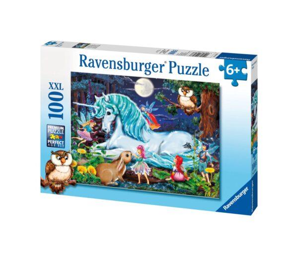 Ravensburger1  RAVENSBURGER - PUZZLE 100 PEZZI XXL - FORESTA INCANTATA