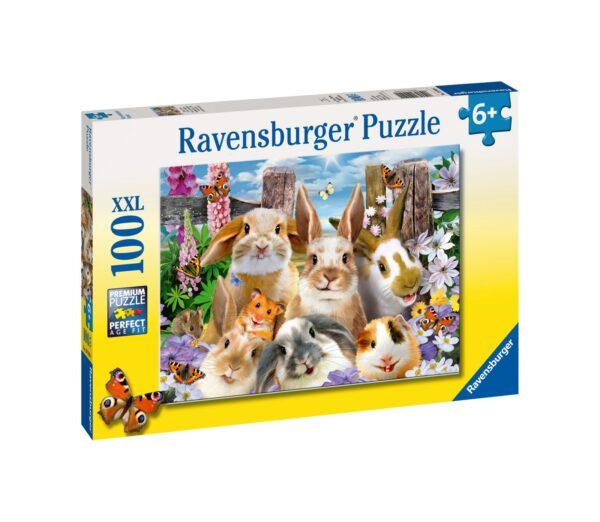 Ravensburger1  RAVENSBURGER - PUZZLE 100 PEZZI XXL - SELFIE DI CONIGLIETTI