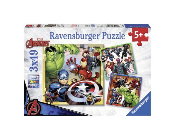RAVENSBURGER - PUZZLE 3X49 PEZZI - AVENGERS Ravensburger1