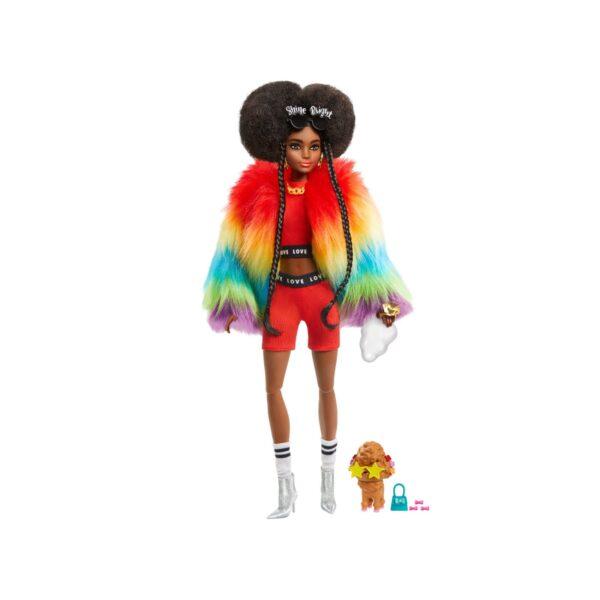 BARBIE EXTRA BAMBOLA AFRO CON 10 ACCESSORI ALLA MODA, GIOCATTOLO PER BAMBINI 3+ ANNI Barbie