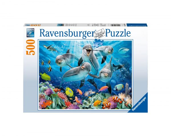 RAVENSBURGER - PUZZLE 500 PEZZI - DELFINI Ravensburger1