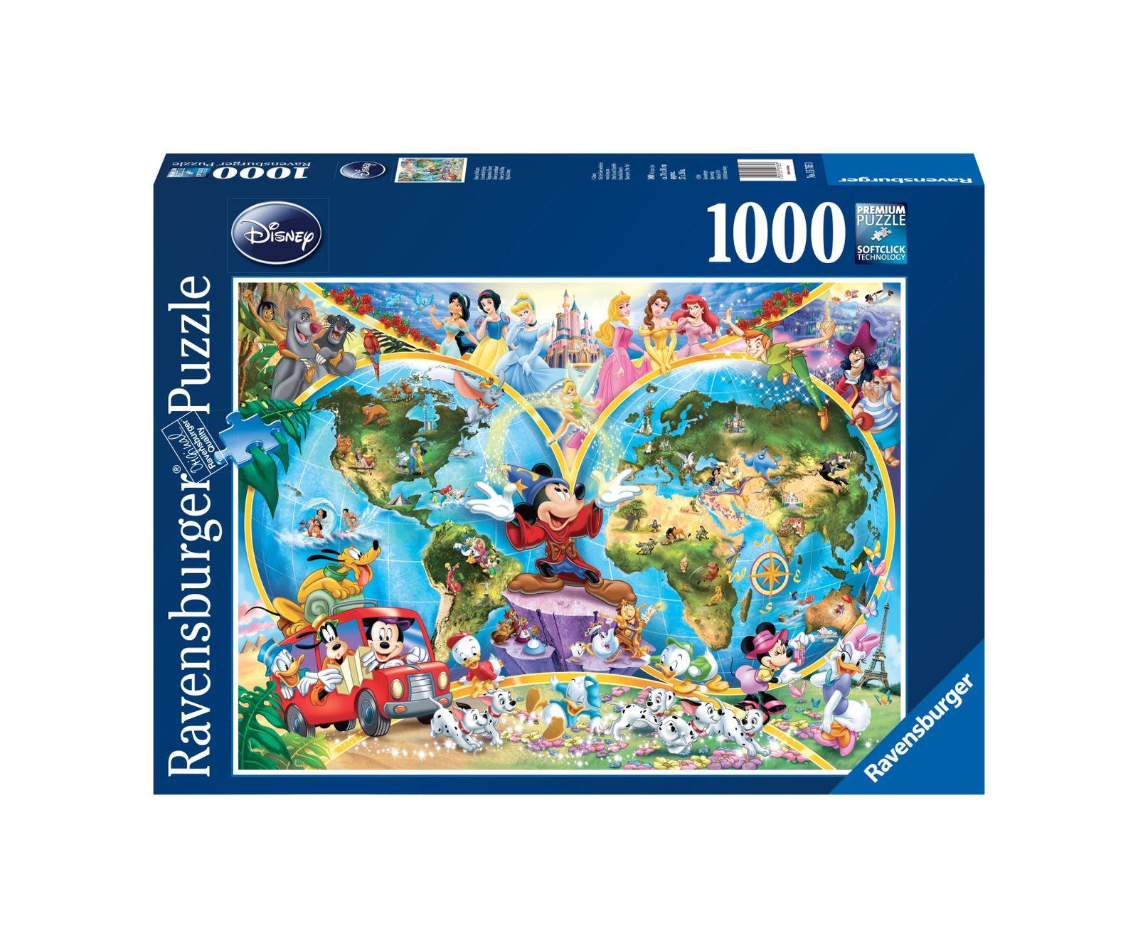 Ravensburger puzzle 1000 pezzi disney mappamondo - Ravensburger1