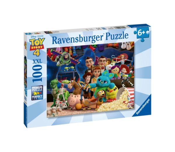RAVENSBURGER - PUZZLE 100 PEZZI XXL - TOY STORY 4    Ravensburger1, TOY STORY