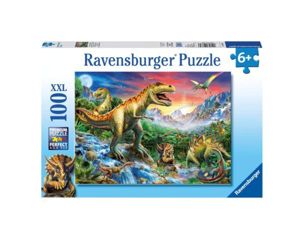 RAVENSBURGER - PUZZLE 100 PEZZI XXL - L'ERA DEI DINOSAURI Ravensburger1