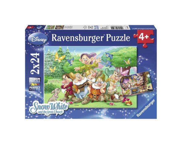 RAVENSBURGER - PUZZLE 2X24 PEZZI - I SETTE NANI Ravensburger1