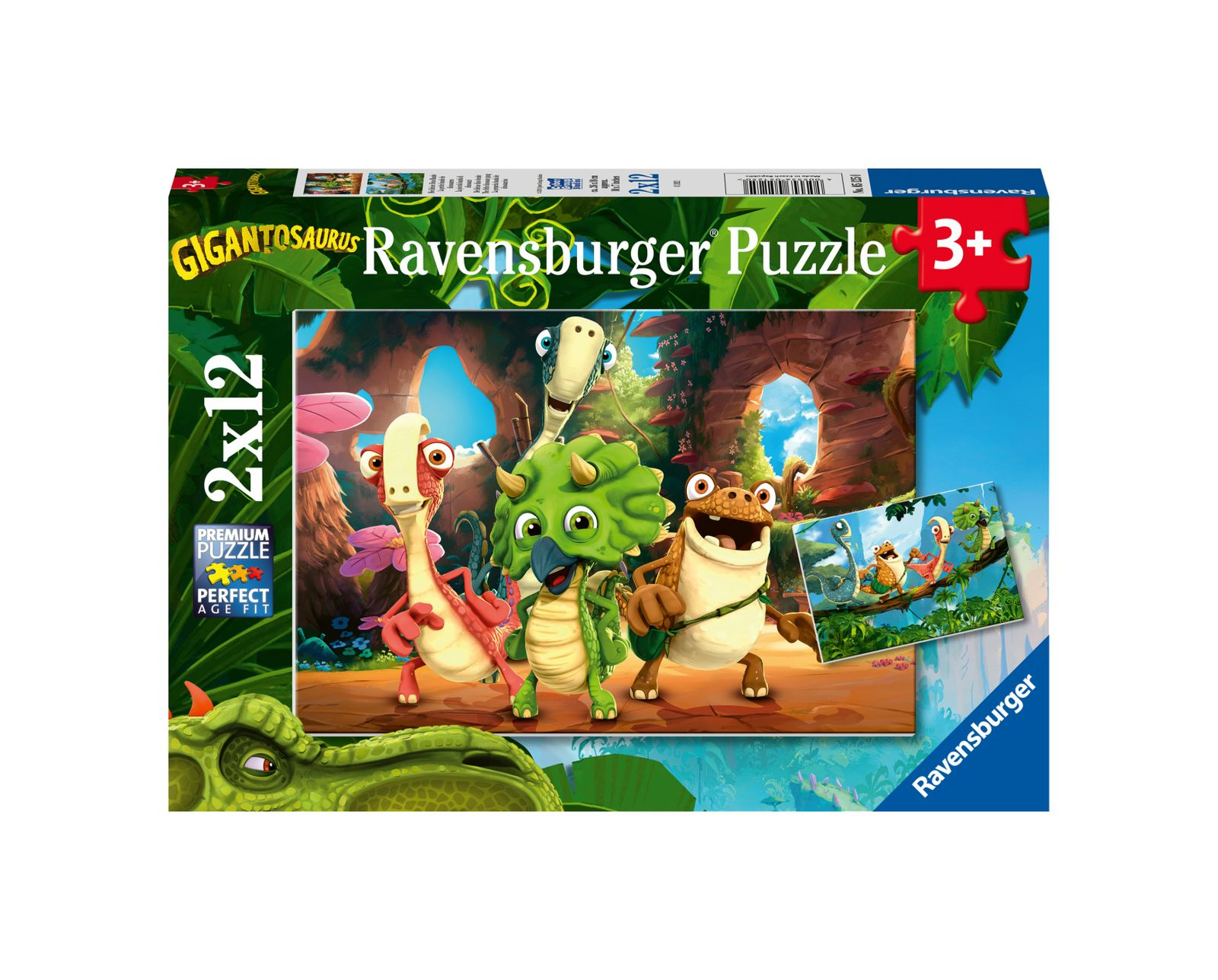 Ravensburger puzzle 2x12 pezzi - gigantosaurus - Ravensburger1