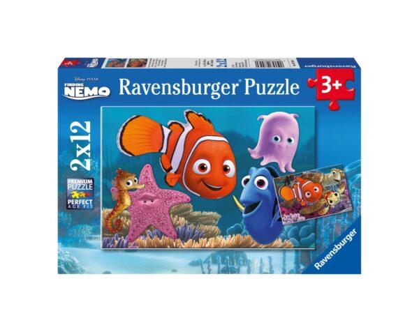 RAVENSBURGER - PUZZLE 2X12 PEZZI - ALLA RICERCA DI NEMO Ravensburger1
