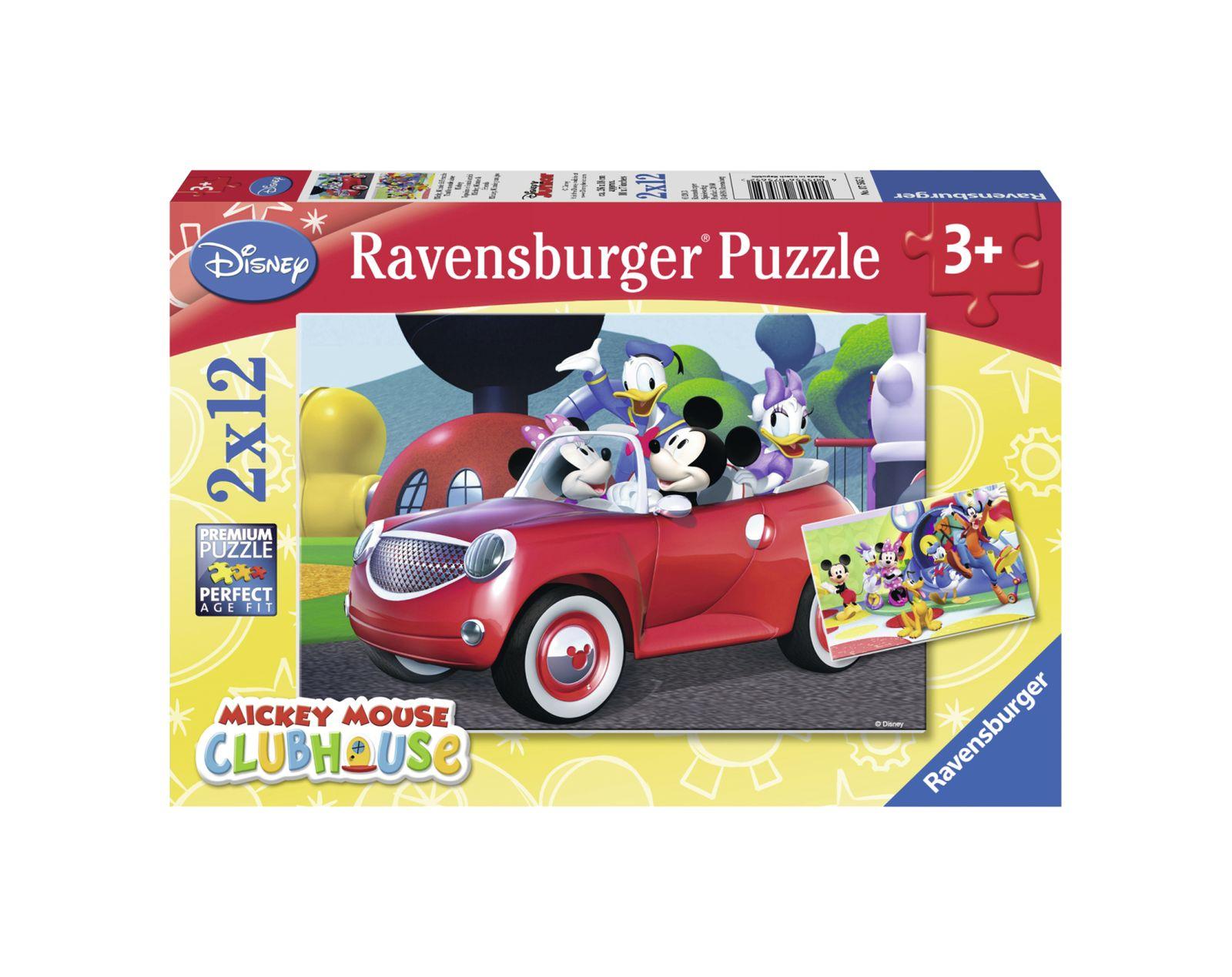 Ravensburger - puzzle 2x12 pezzi - casa di topolino - Ravensburger1