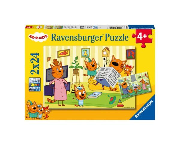 RAVENSBURGER - PUZZLE 2X24 PEZZI - CURIOSO COME KID E CATS Ravensburger1