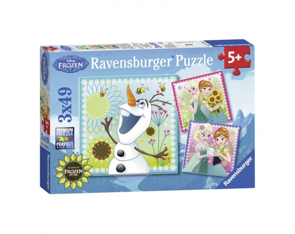 RAVENSBURGER - PUZZLE 3X49 PEZZI - FROZEN A Ravensburger1