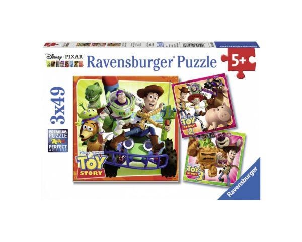 RAVENSBURGER - PUZZLE 3X49 PEZZI - TOY STORY HISTORY Ravensburger1, TOY STORY