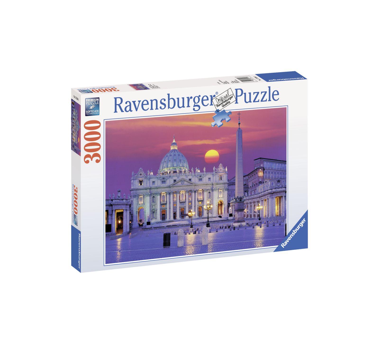 Ravensburger puzzle 3000 pezzi roma piazza san pietro - Ravensburger1
