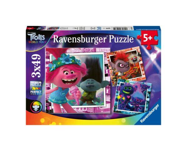 RAVENSBURGER - PUZZLE 3X49 PEZZI - TROLLS Ravensburger1