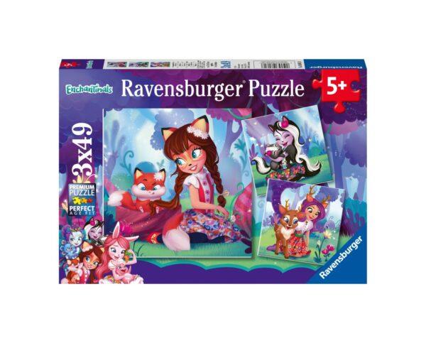 RAVENSBURGER - PUZZLE 3X49 PEZZI - ENCHANTIMALS Ravensburger1