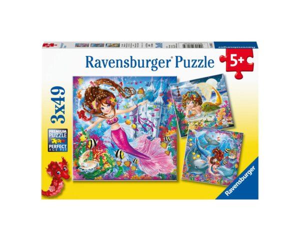 RAVENSBURGER - PUZZLE 3X49 PEZZI - INCANTEVOLI SIRENE Ravensburger1