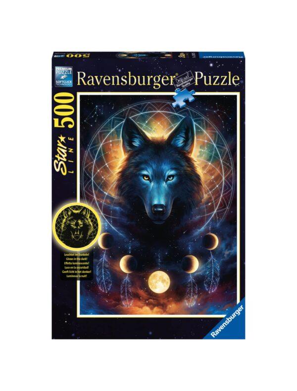 RAVENSBURGER - PUZZLE 500 PEZZI - LUPO SPLENDENTE Ravensburger1