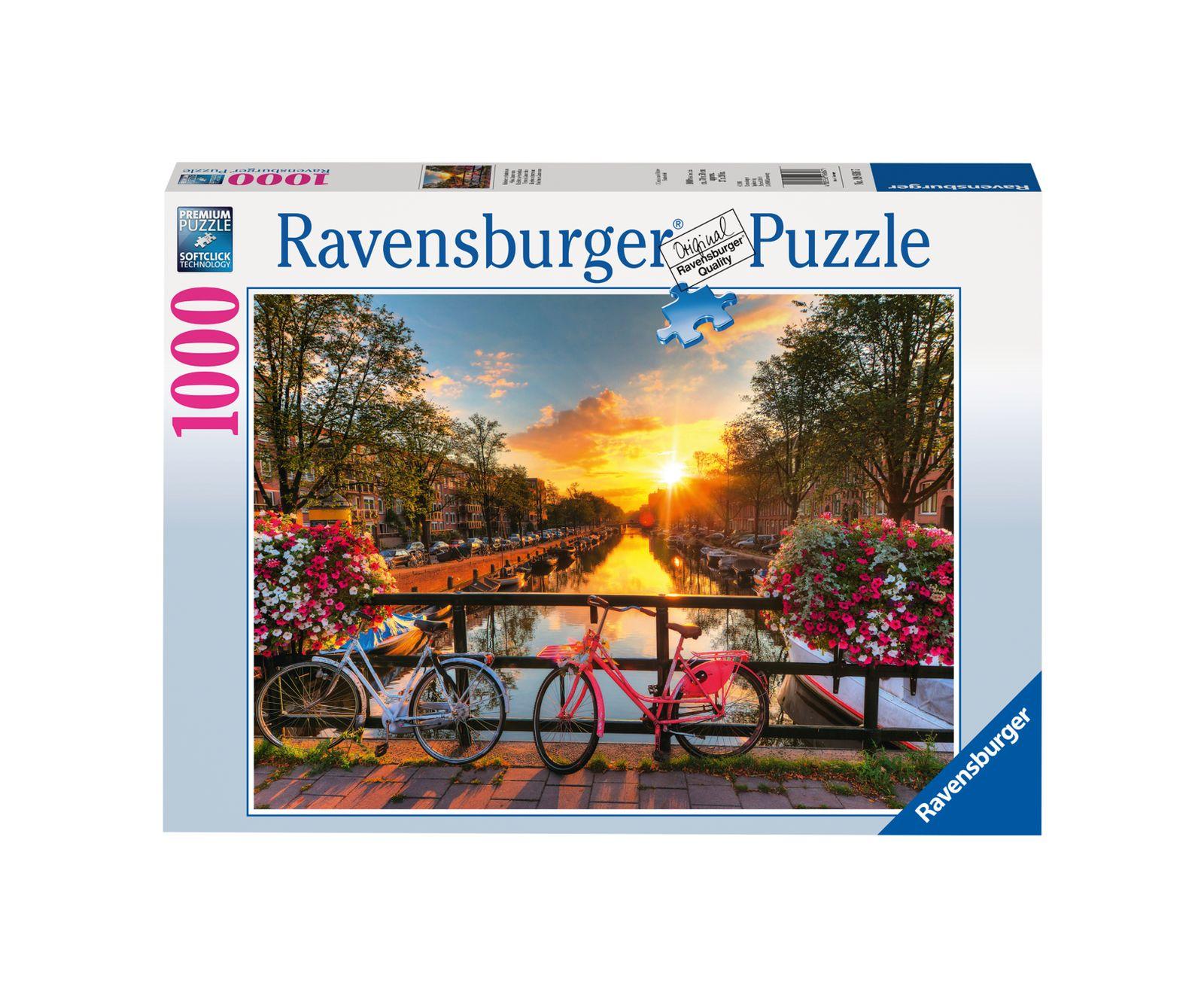 Ravensburger puzzle 1000 pezzi biciclette ad amsterdam - Ravensburger1