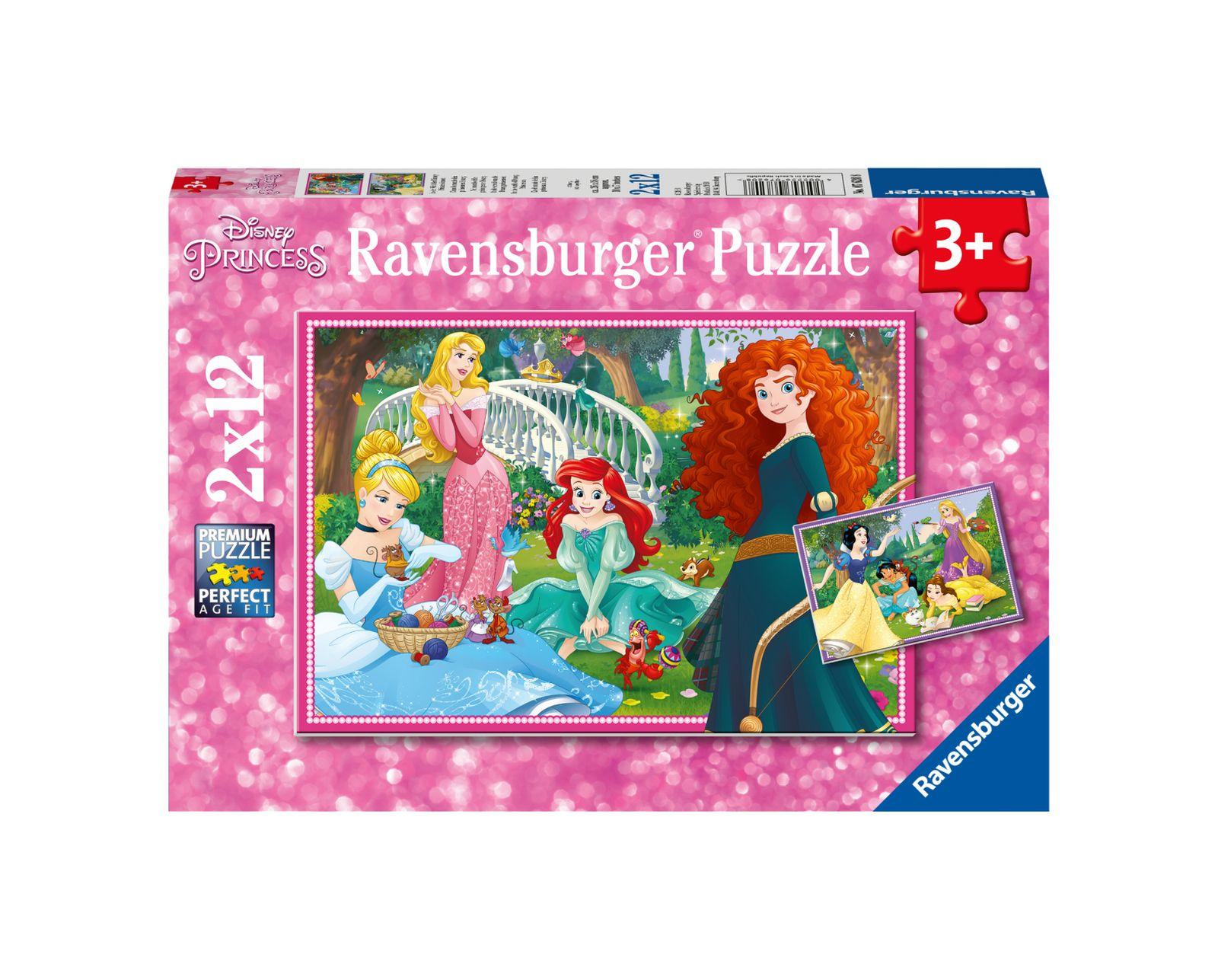 Ravensburger - puzzle 2x12 pezzi - disney princess - Ravensburger1