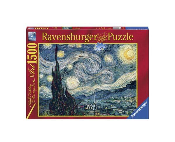 RAVENSBURGER PUZZLE 1500 PEZZI VAN GOGH: NOTTE STELLATA Ravensburger1