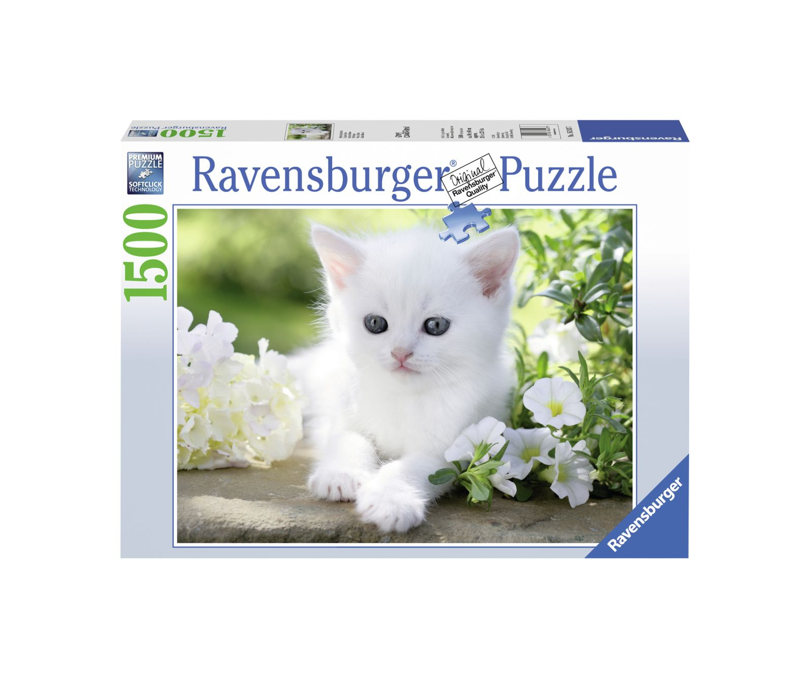 Ravensburger puzzle 1500 pezzi gattino bianco - Ravensburger1