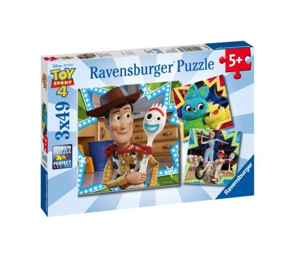 RAVENSBURGER - PUZZLE 3X49 PEZZI - TOY STORY 4    Ravensburger1, TOY STORY