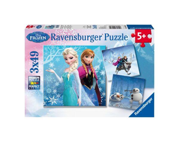 RAVENSBURGER - PUZZLE 3X49 PEZZI - FROZEN B Ravensburger1