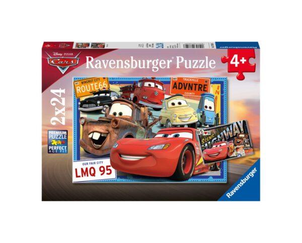 RAVENSBURGER - PUZZLE 2X24 PEZZI - CARS Ravensburger1
