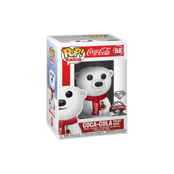 POP AD ICONS: COCA-COLA POLAR BEAR(GLITTER)    Funko