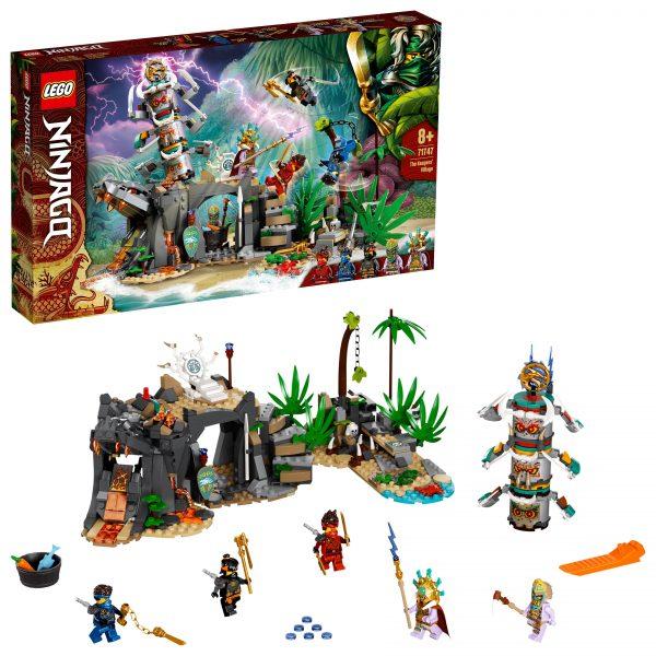 LEGO NINJAGO Il Villaggio dei Guardiani, Costruzioni per Bambini 8+ Anni con 5 Minifigure, Ninja Cole, Jay e Zane, 71747 LEGO NINJAGO