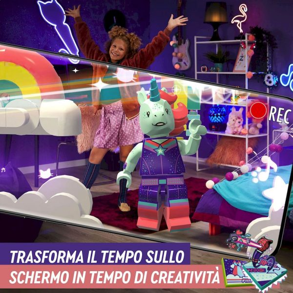 LEGO VIDIYO Unicorn DJ BeatBox Creatore Video Musicali con Unicorno, Giocattoli per Bambini, App Realtà Aumentata, 43106    Lego