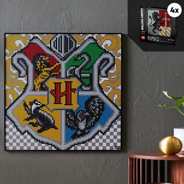 ART  LEGO ART Harry Potter Hogwarts Crests - 31201