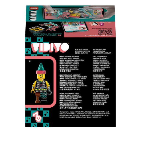 LEGO VIDIYO Punk Pirate BeatBox Creatore Video Musicali con Pirata, Giocattoli per Bambini, App Realtà Aumentata, 43103    Lego