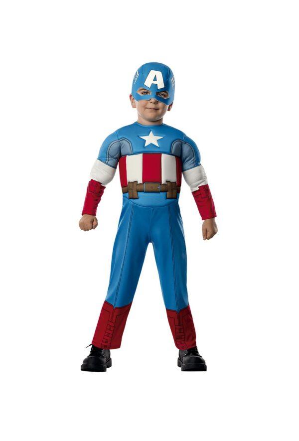 COSTUME CAPITAN AMERICA DELUXE PRESCHOOL BAMBINI Avengers