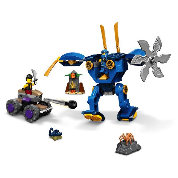 LEGO NINJAGO  LEGO NINJAGO Legacy Electro-Mech di Jay, Giocattoli Action Figure per Bambini 4+ Anni con Ragno e Auto Ninja, 71740