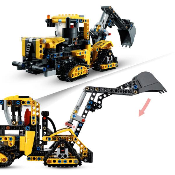 LEGO Technic Escavatore Pesante e Trattore Cingolato, Giocattolo 2 in 1, Costruzioni per Bambini e Bambine 8+ Anni, 42121   LEGO TECHNIC