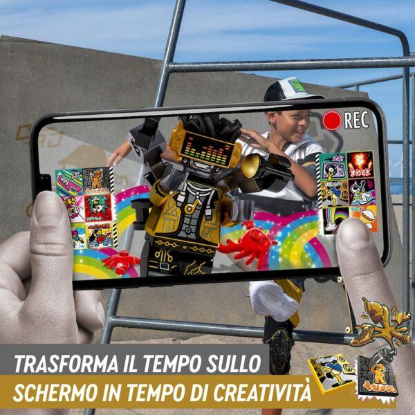 Lego  LEGO VIDIYO HipHop Robot BeatBox Creatore Video Musicali, Giocattoli per Bambini, App Realtà Aumentata con Minifigure, 43107