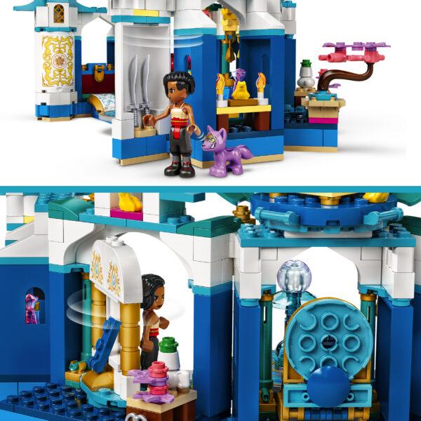 LEGO Disney Princess Raya e il Palazzo del Cuore, Castello Giocattolo con Mini-doll di Namaari, Tuk Tuk e Serlot, 43181    Lego