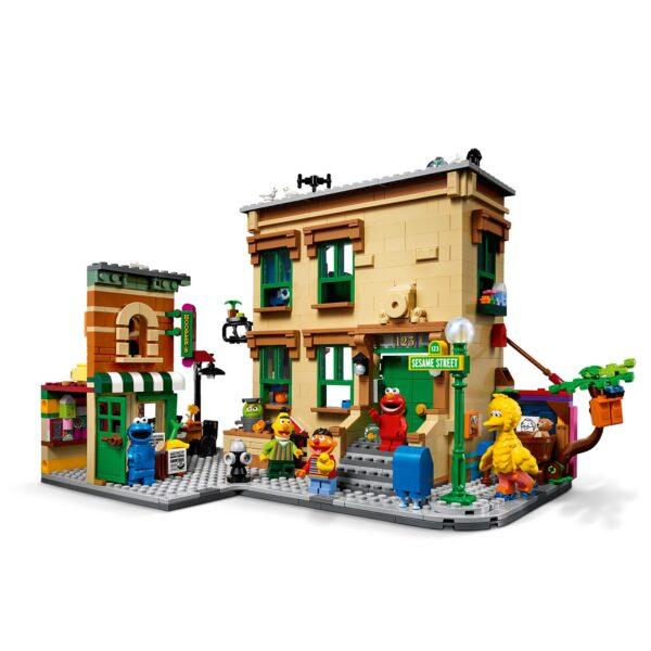 Lego  LEGOIdeas123SesameStreet,SetdaCostruzioneperAdulticonFigurediCookieMonster,Elmo,Bert,ErnieeBigBird,21324
