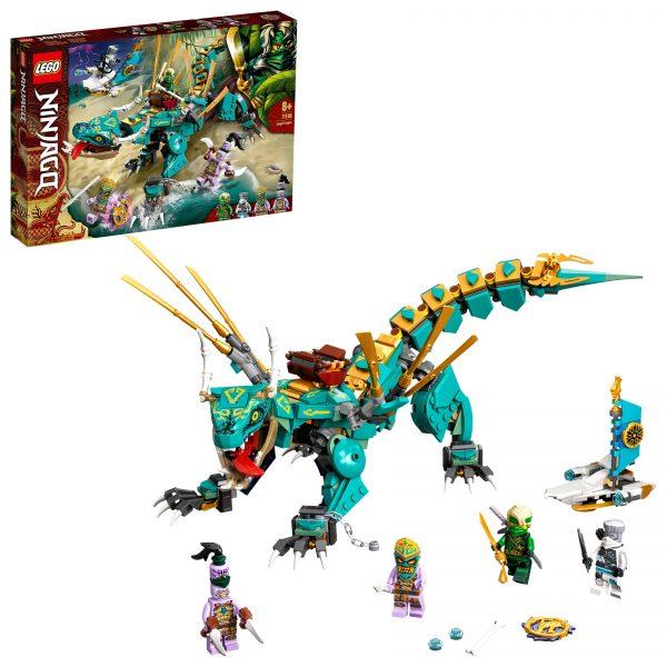 LEGO NINJAGO Dragone della Giungla, Costruzioni per Bambini 8+ Anni con 4 Minifigure, Ninja Lloyd e Zane, 71746 LEGO NINJAGO