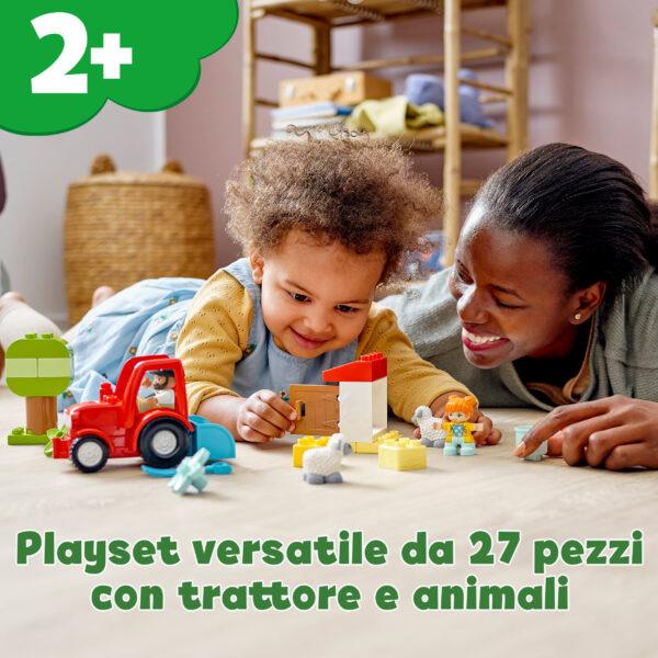 LEGO DUPLO Town Il Trattore della Fattoria e i suoi Animali, Giocattoli per Bambini 2+ Anni con Contadino e Pecorelle, 10950    LEGO DUPLO